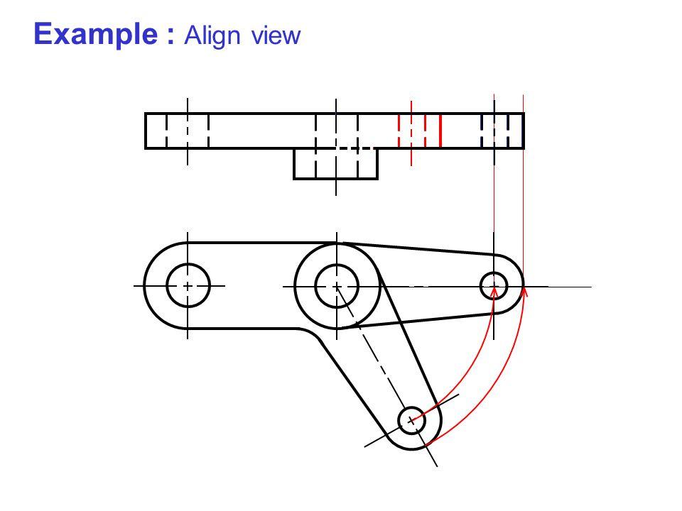 Example : Align view