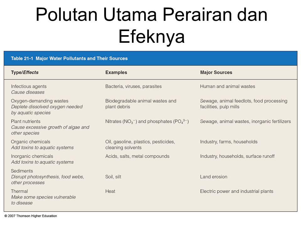 Polutan Utama Perairan dan Efeknya