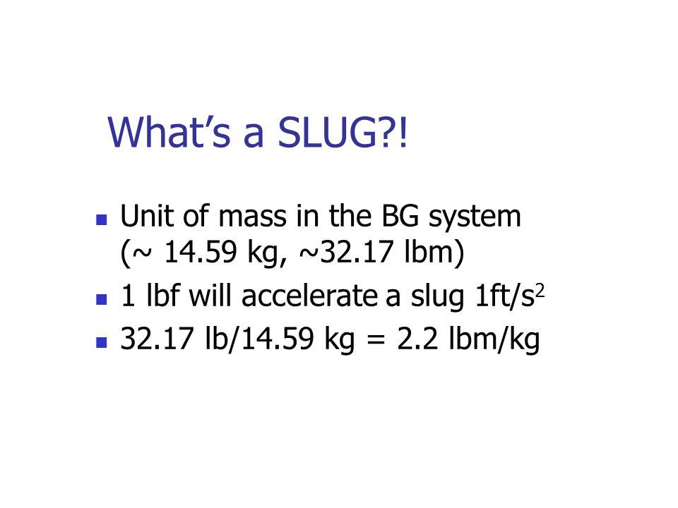 What's a SLUG?.