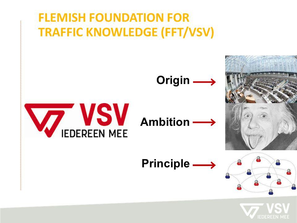 FLEMISH FOUNDATION FOR TRAFFIC KNOWLEDGE (FFT/VSV) Origin Ambition Principle