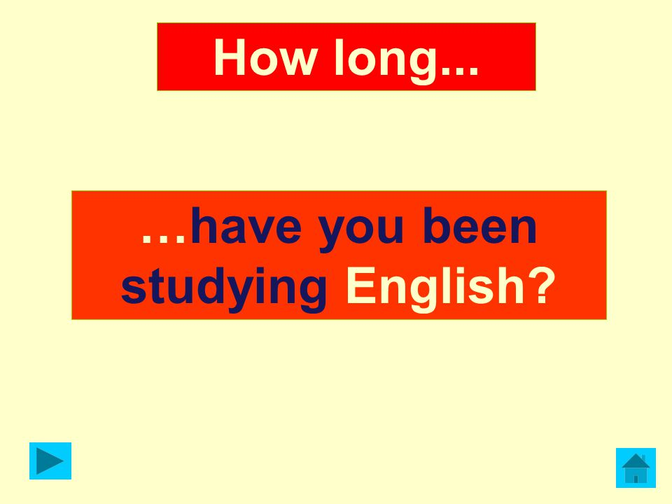 …have you been studying English? How long...