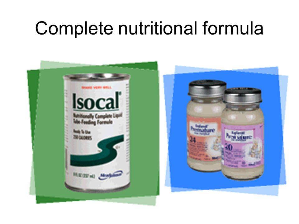Complete nutritional formula