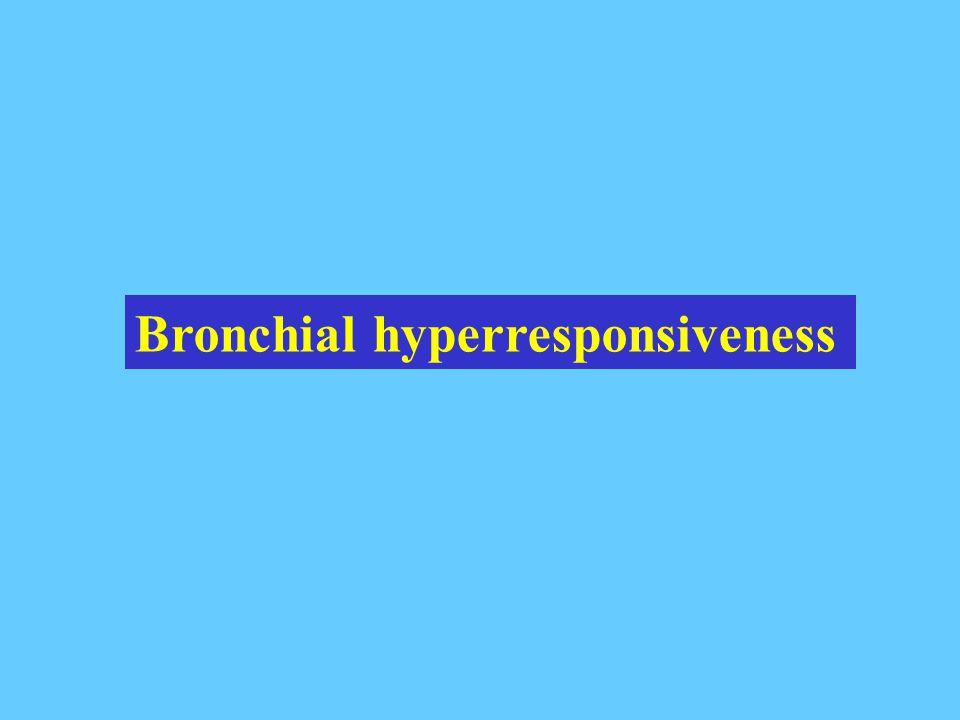 Bronchial hyperresponsiveness
