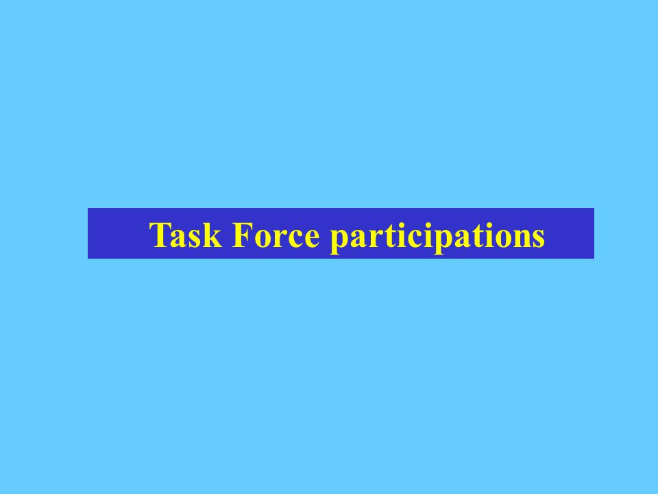 Task Force participations