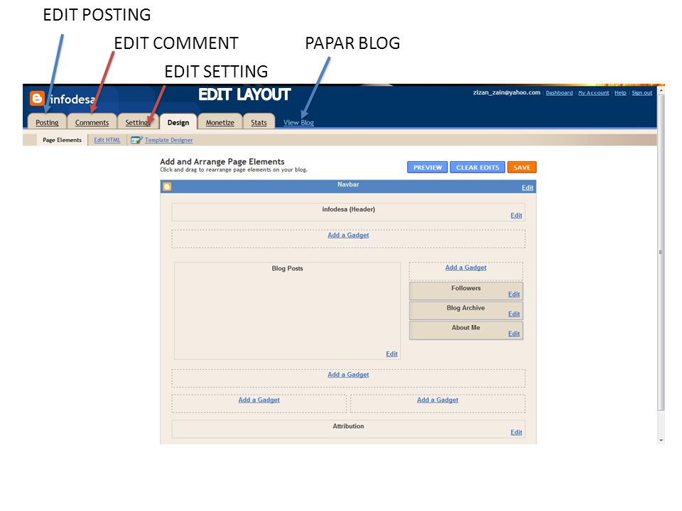 EDIT SETTING EDIT COMMENT EDIT POSTING PAPAR BLOG