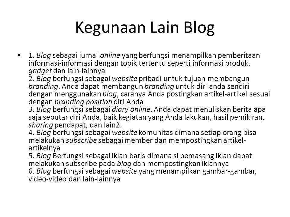 Kegunaan Lain Blog 1.