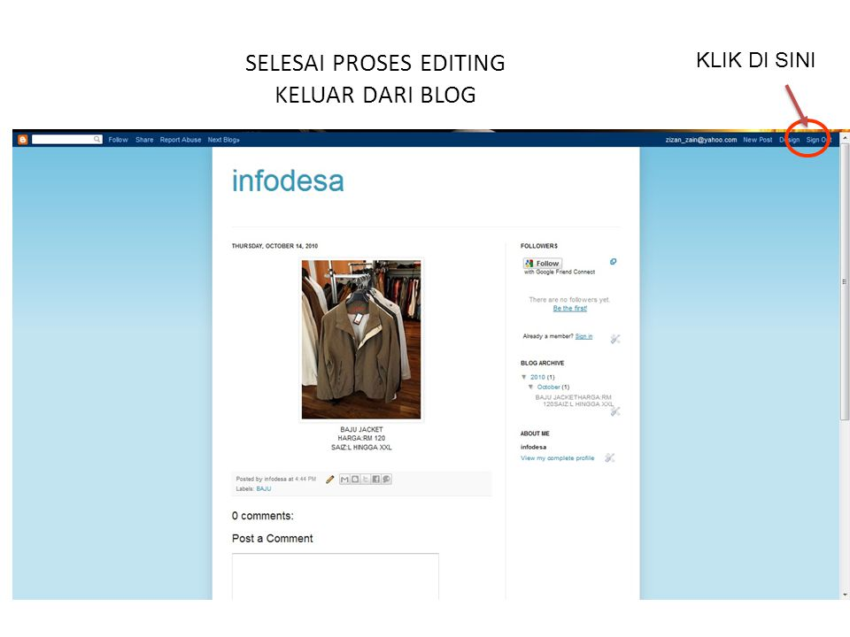 SELESAI PROSES EDITING KELUAR DARI BLOG KLIK DI SINI