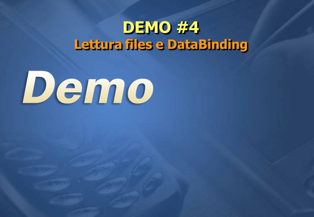 DEMO #4 Lettura files e DataBinding