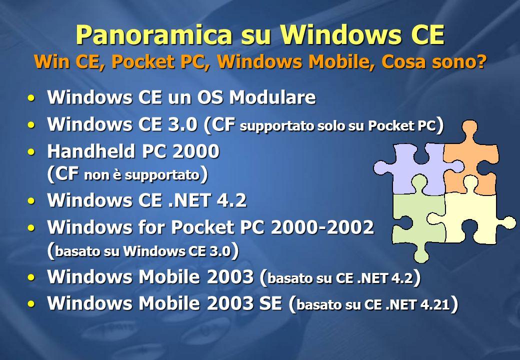 Panoramica su Windows CE Win CE, Pocket PC, Windows Mobile, Cosa sono.