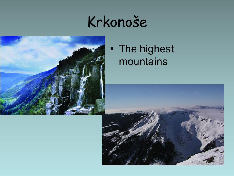 Krkonoše The highest mountains