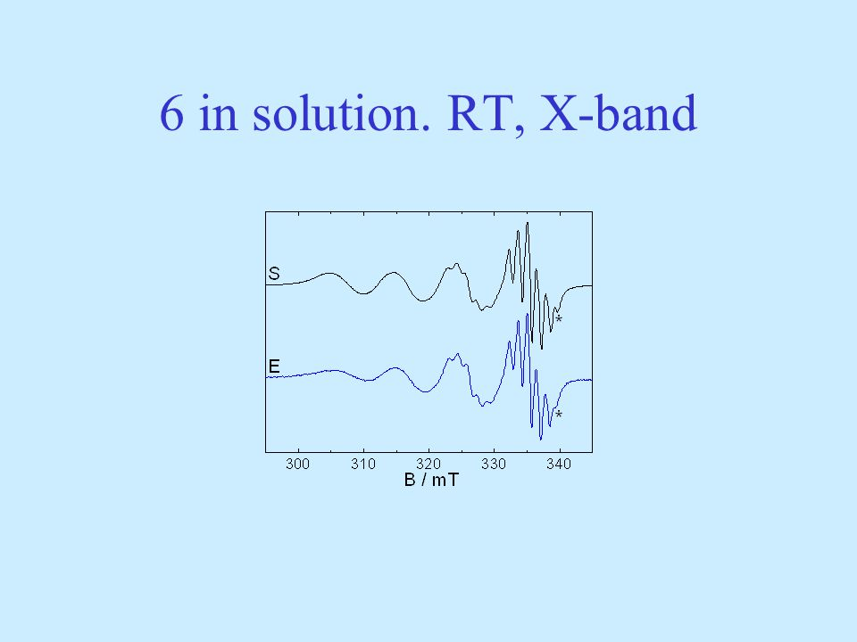 6 in solution. RT, X-band