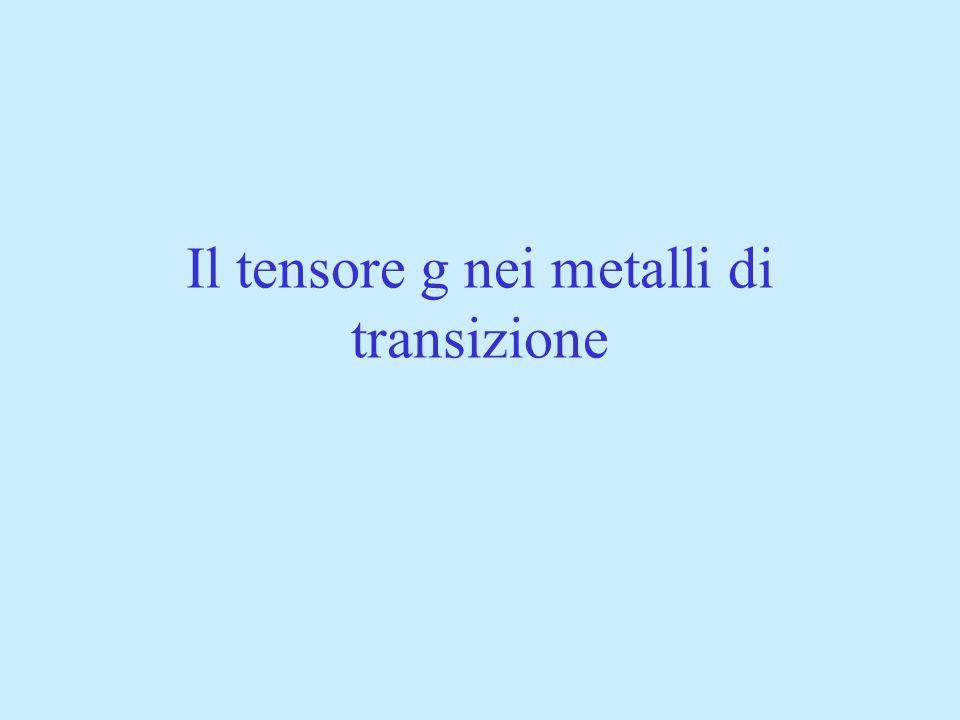 Il tensore g nei metalli di transizione