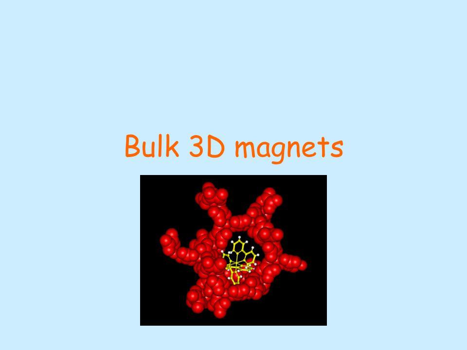 Bulk 3D magnets