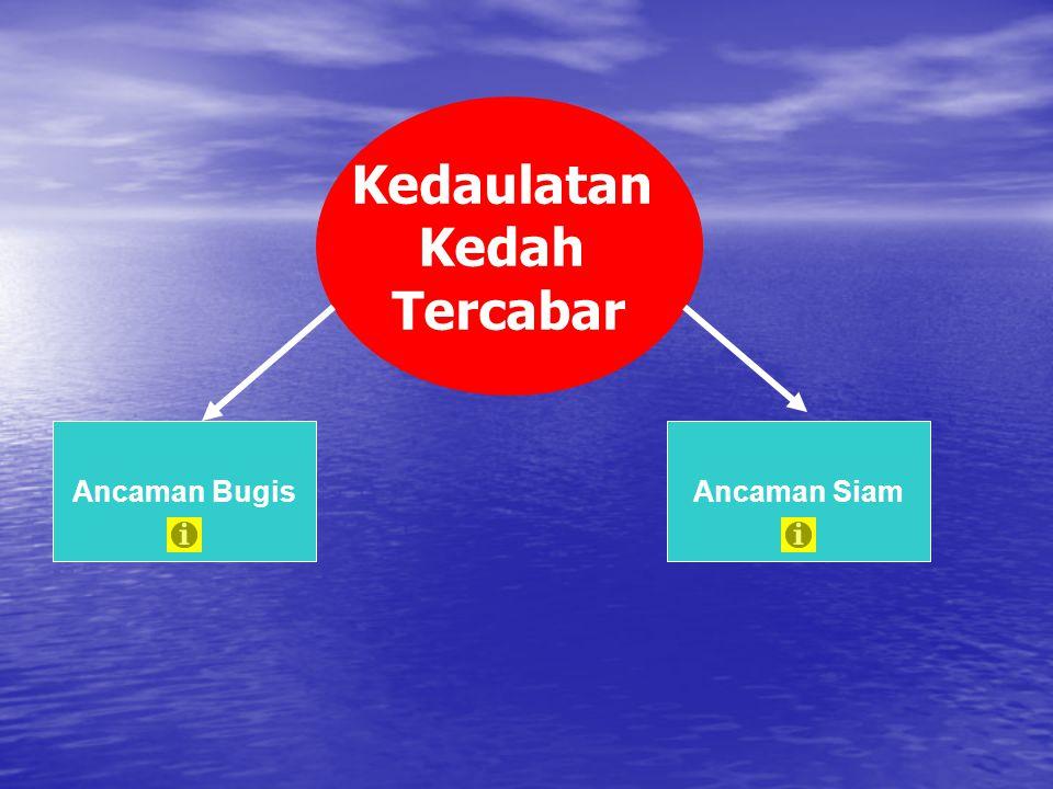 Kedaulatan Kedah Tercabar Ancaman BugisAncaman Siam