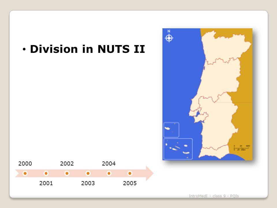 Division in NUTS II IntroMedI - class 9 - PQIs 2000 2001 2002 2003 2004 2005