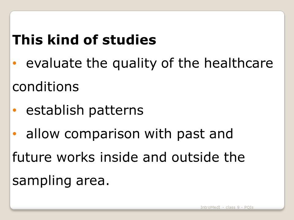 IntroMedII - class 9 - PQIs Self-Perception of Health Source: National Health Survey, 1999 Overall PQI