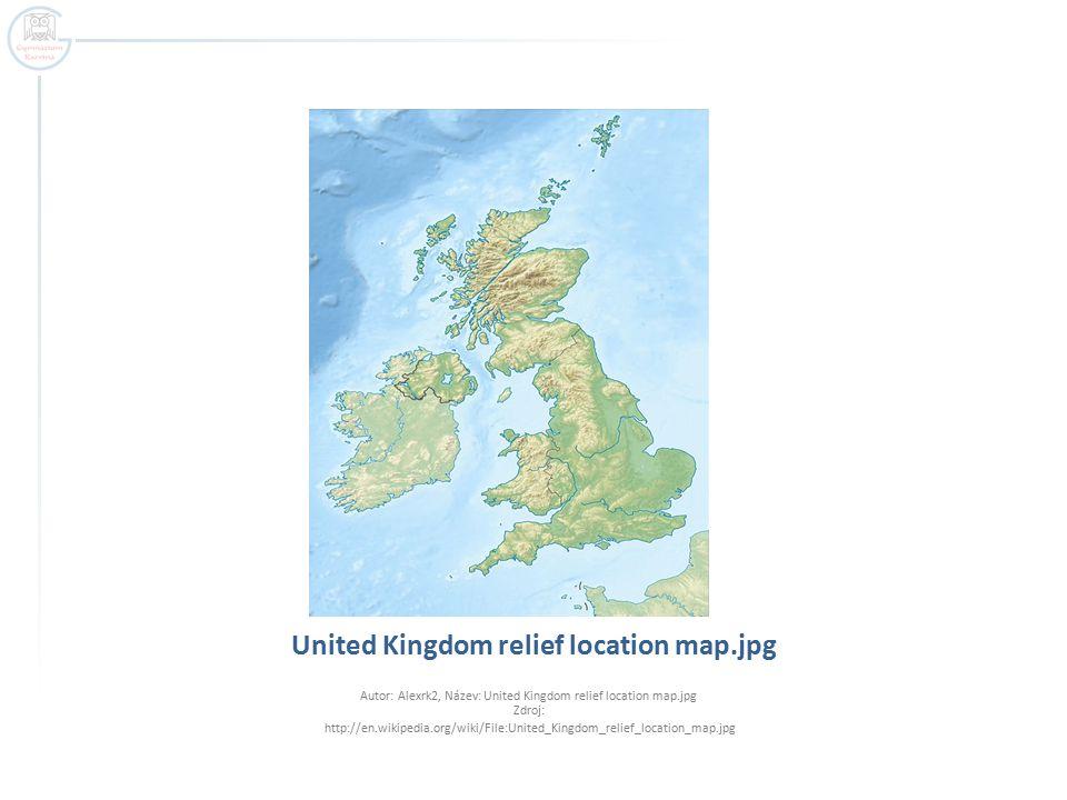United Kingdom relief location map.jpg Autor: Alexrk2, Název: United Kingdom relief location map.jpg Zdroj: http://en.wikipedia.org/wiki/File:United_K