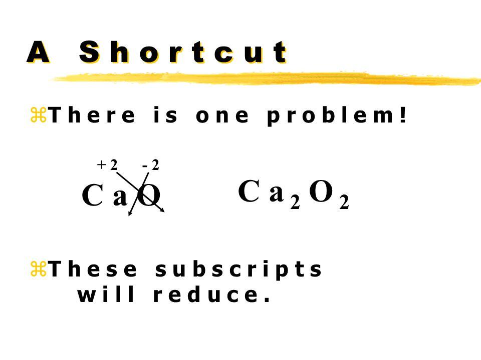 A S h o r t c u t zT h e r e i s o n e p r o b l e m .
