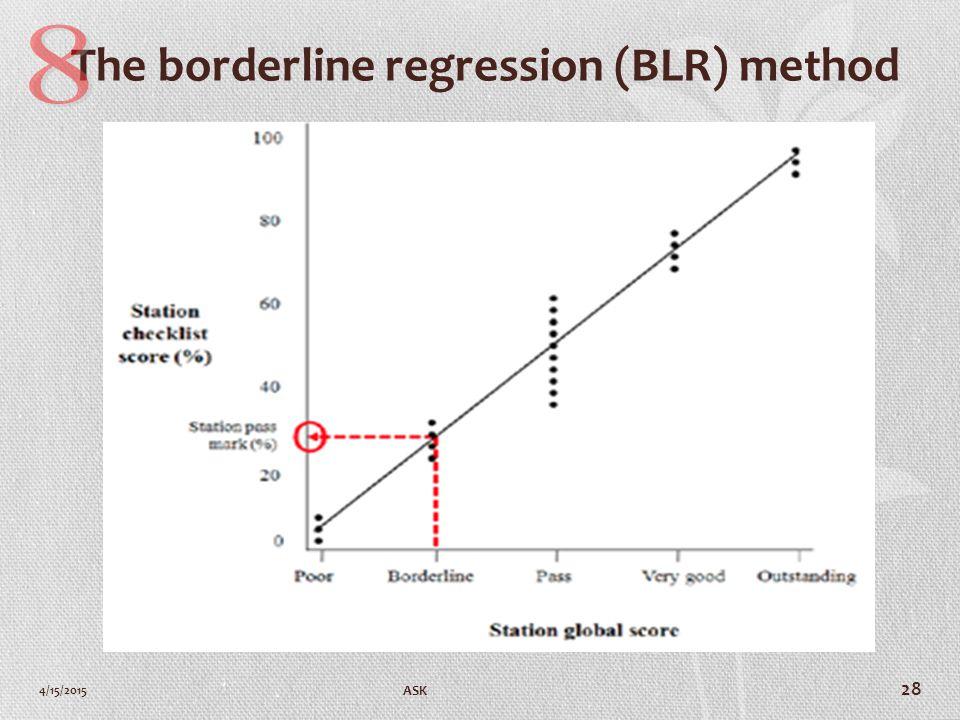 The borderline regression (BLR) method 4/15/2015 ASK 28