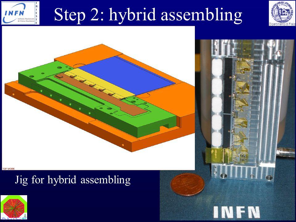 Marco Bregant Vertex05 - Nikko, November 2005 Dipartimento di Fisica Step 2: hybrid assembling Jig for hybrid assembling