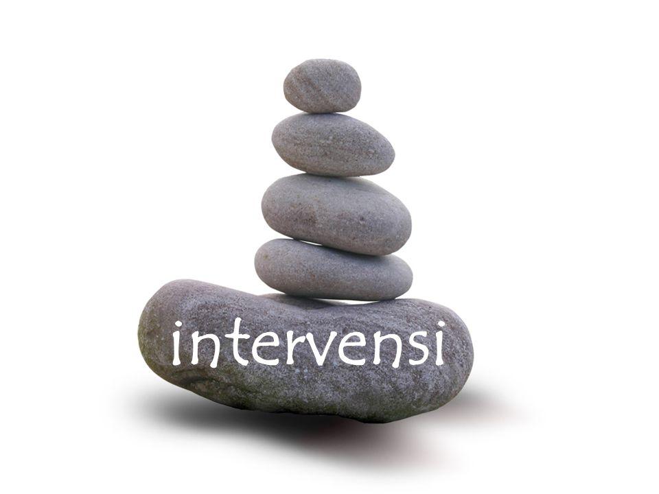 diskusikan berpasangan 1.apa itu intervensi. 2. a.
