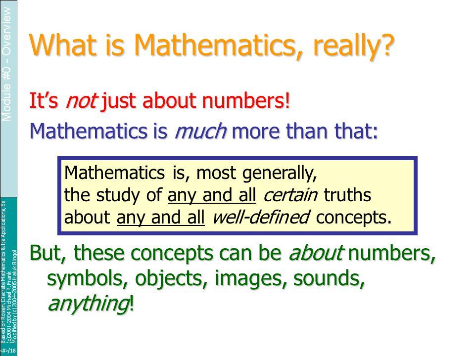 12/18 Based on Rosen, Discrete Mathematics & Its Applications, 5e (c)2001-2004 Michael P.