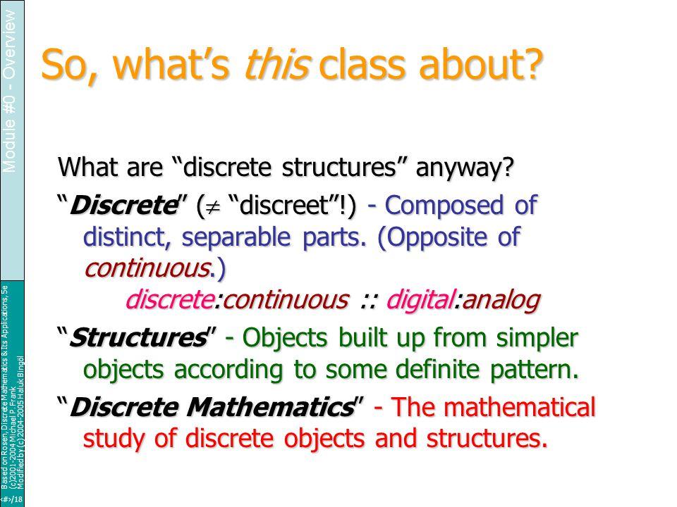 14/18 Based on Rosen, Discrete Mathematics & Its Applications, 5e (c)2001-2004 Michael P.