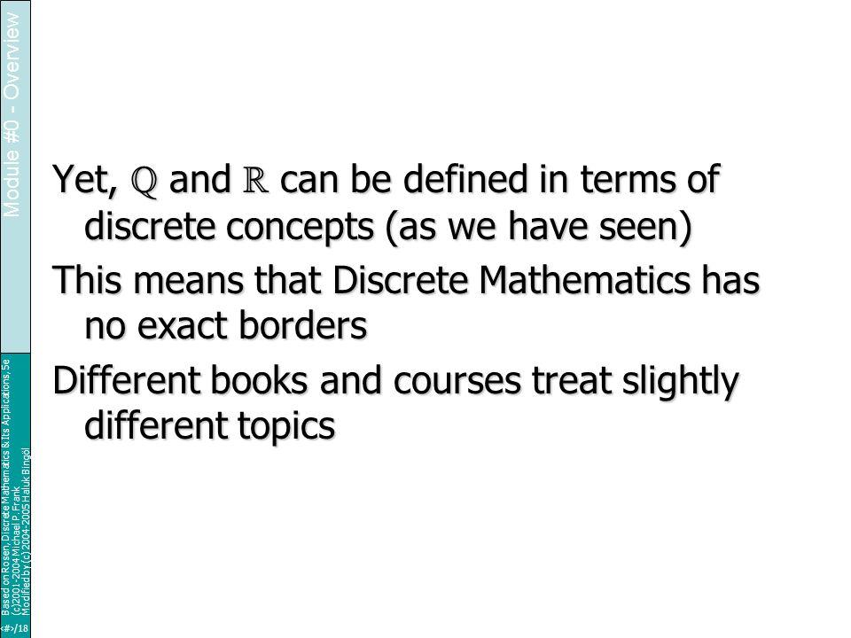 17/18 Based on Rosen, Discrete Mathematics & Its Applications, 5e (c)2001-2004 Michael P.