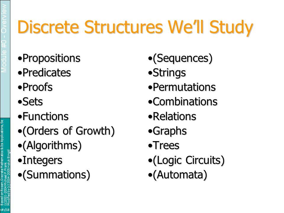 18/18 Based on Rosen, Discrete Mathematics & Its Applications, 5e (c)2001-2004 Michael P.