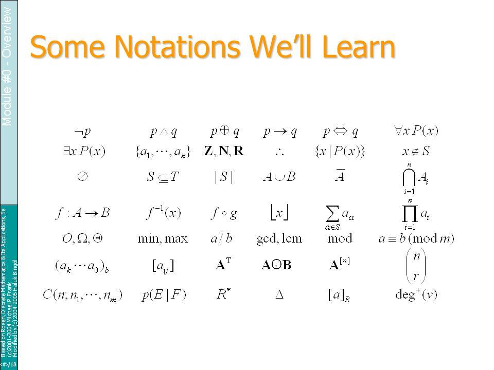 19/18 Based on Rosen, Discrete Mathematics & Its Applications, 5e (c)2001-2004 Michael P.