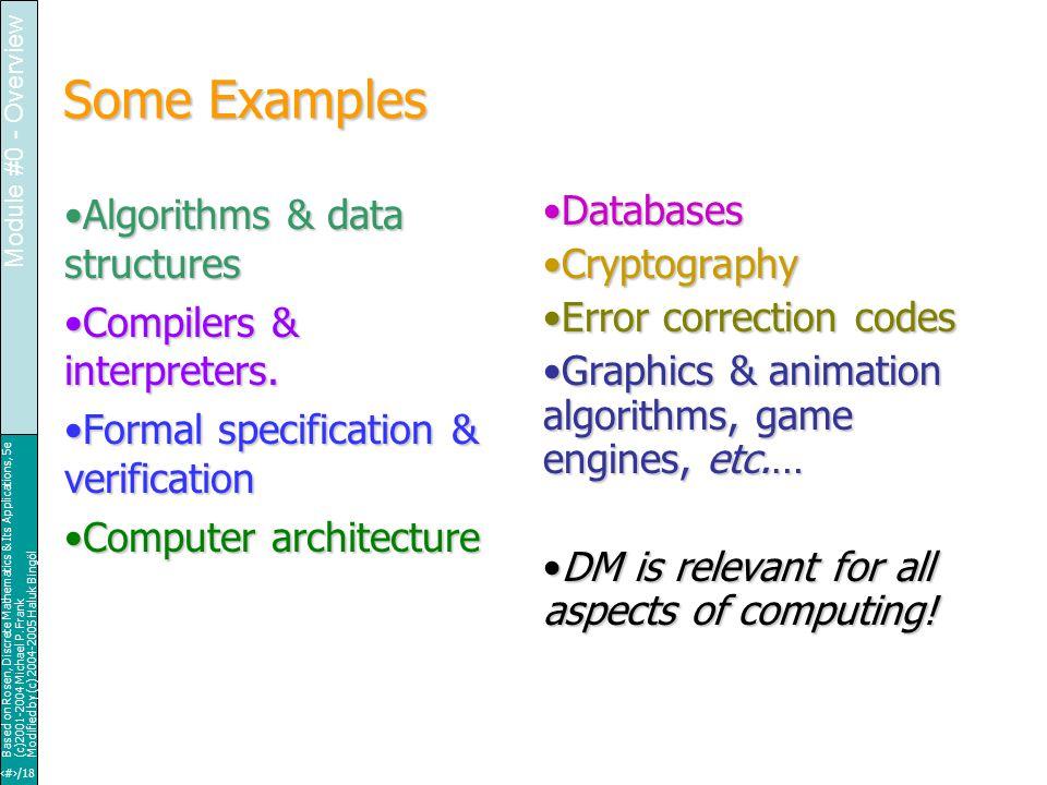 22/18 Based on Rosen, Discrete Mathematics & Its Applications, 5e (c)2001-2004 Michael P.