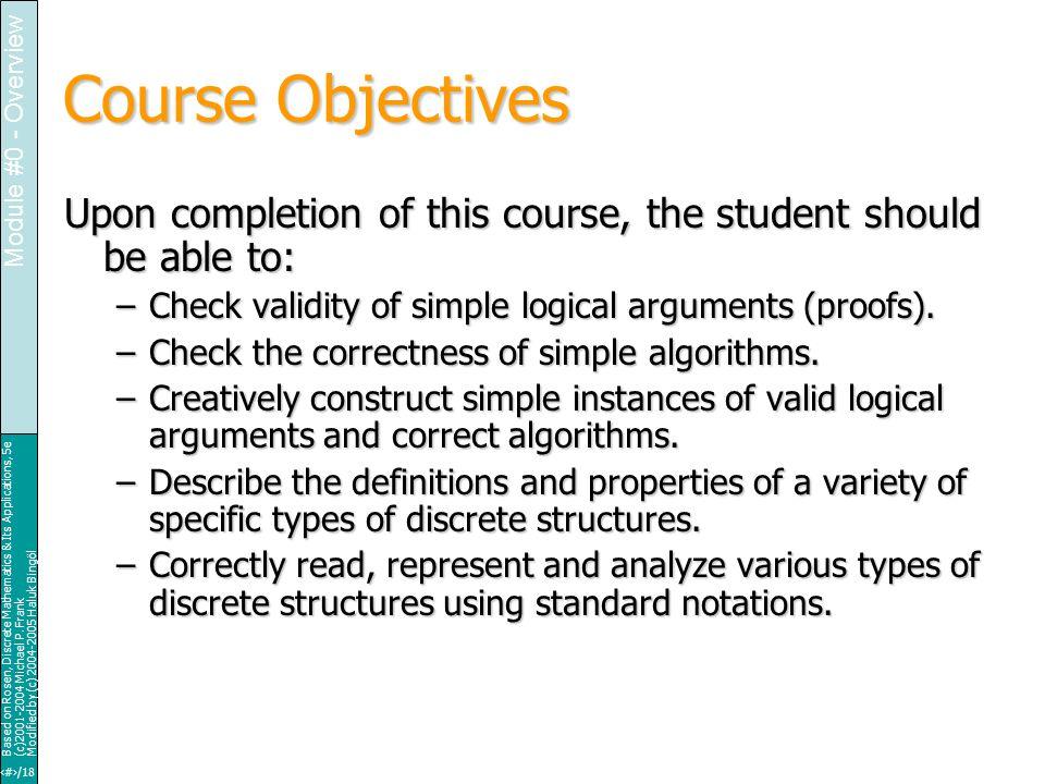 25/18 Based on Rosen, Discrete Mathematics & Its Applications, 5e (c)2001-2004 Michael P.