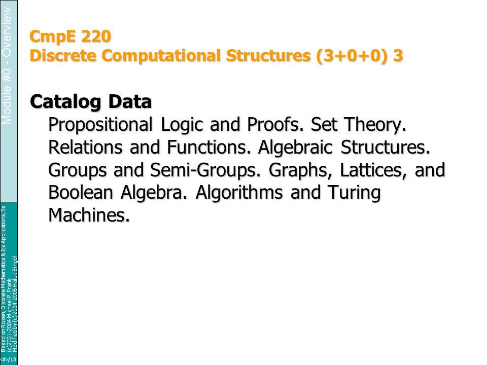 3/18 Based on Rosen, Discrete Mathematics & Its Applications, 5e (c)2001-2004 Michael P.