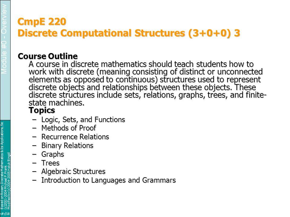 4/18 Based on Rosen, Discrete Mathematics & Its Applications, 5e (c)2001-2004 Michael P.