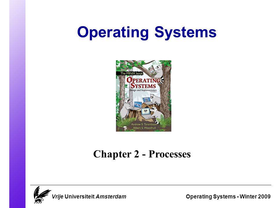 Operating Systems Operating Systems - Winter 2009 Chapter 2 - Processes Vrije Universiteit Amsterdam