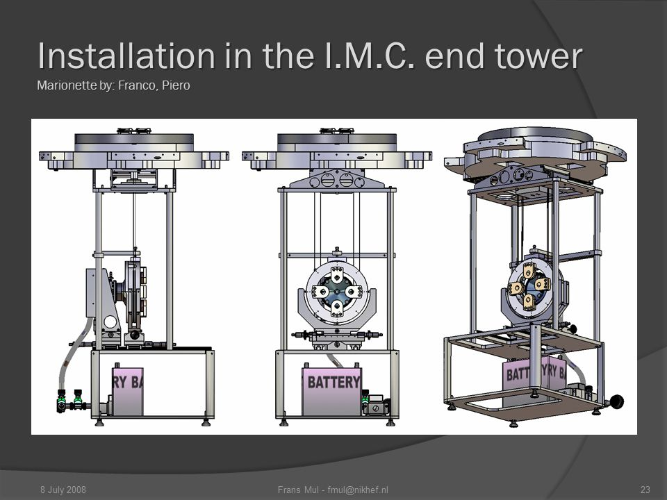 Installation in the I.M.C.