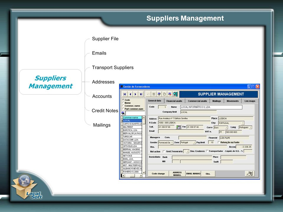 Suppliers Management