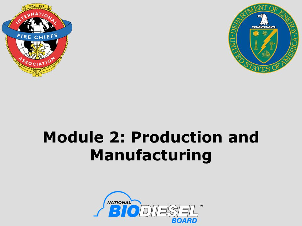 Module 2: Production and Manufacturing