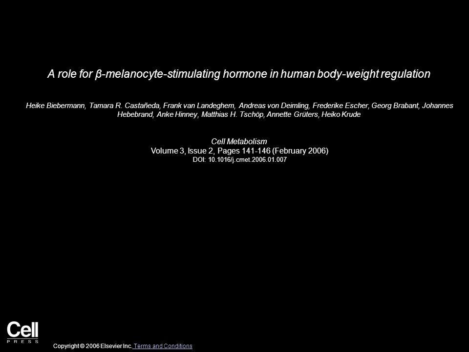 Figure 1 Cell Metabolism 2006 3, 141-146DOI: (10.1016/j.cmet.2006.01.007) Copyright © 2006 Elsevier Inc.