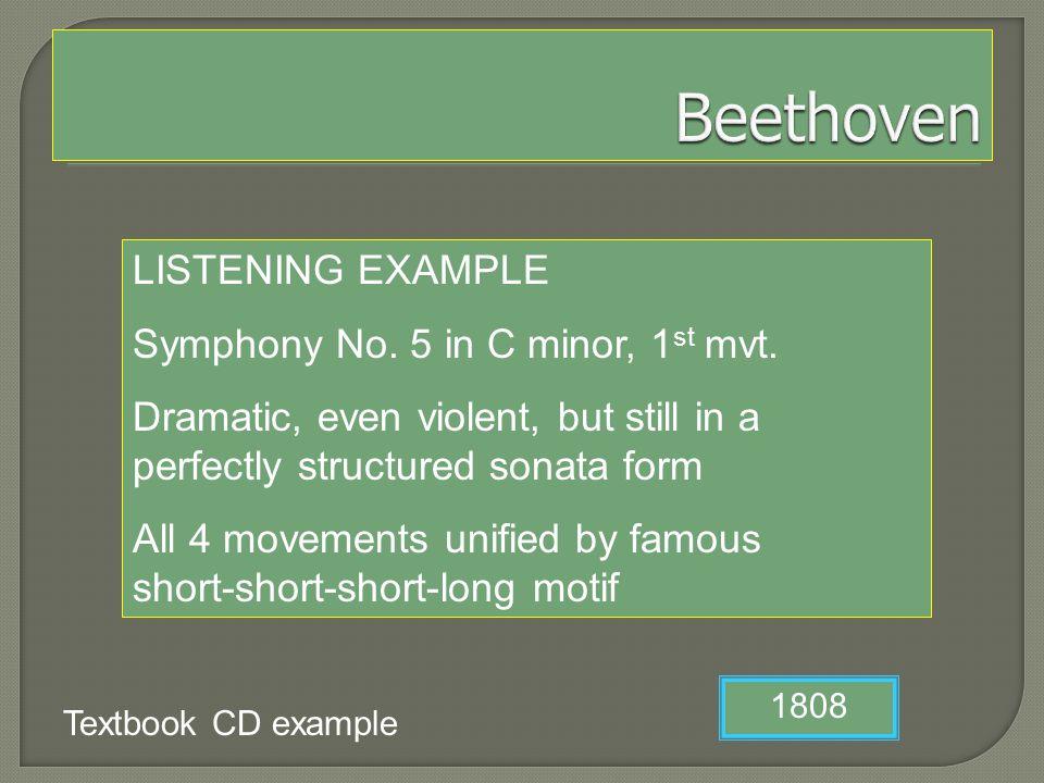 LISTENING EXAMPLE Symphony No.