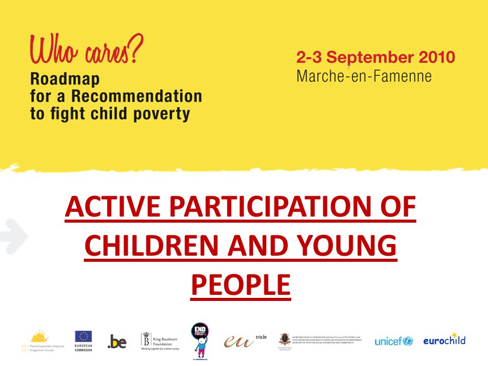 ACTIVE PARTICIPATION OF CHILDREN AND YOUNG PEOPLE 7