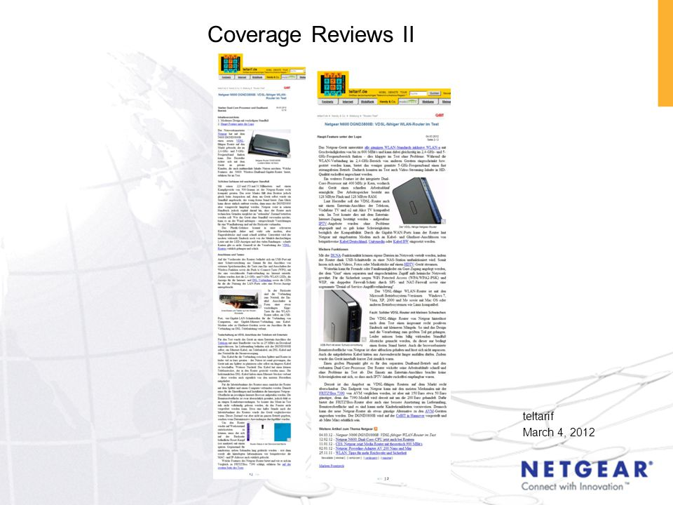 teltarif March 4, 2012 Coverage Reviews II