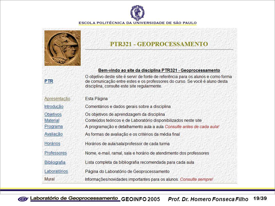 GEOINFO 2005 Prof. Dr. Homero Fonseca Filho 19/39