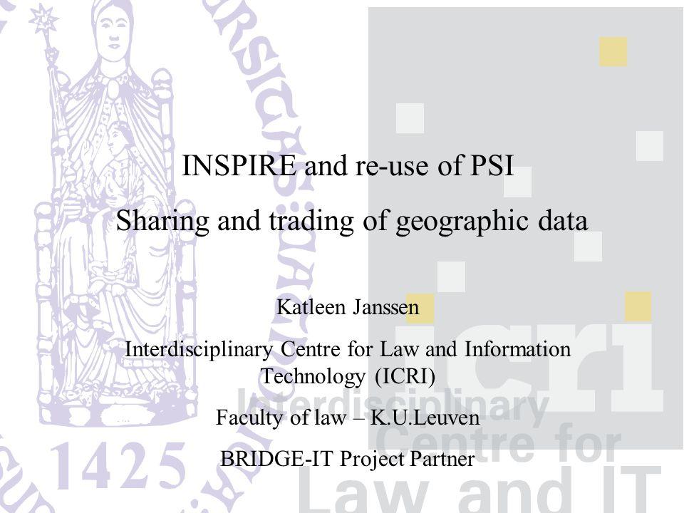 Transparante overheidsinformatie als competitief voordeel voor Vlaanderen INSPIRE and re-use of PSI Thank you for your attention.