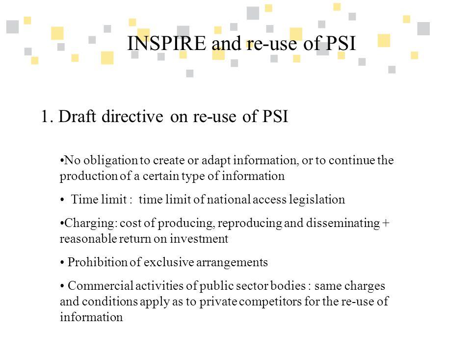 Transparante overheidsinformatie als competitief voordeel voor Vlaanderen INSPIRE and re-use of PSI 2.