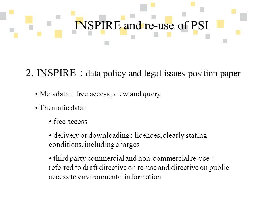 Transparante overheidsinformatie als competitief voordeel voor Vlaanderen INSPIRE and re-use of PSI General right of re-use 3.