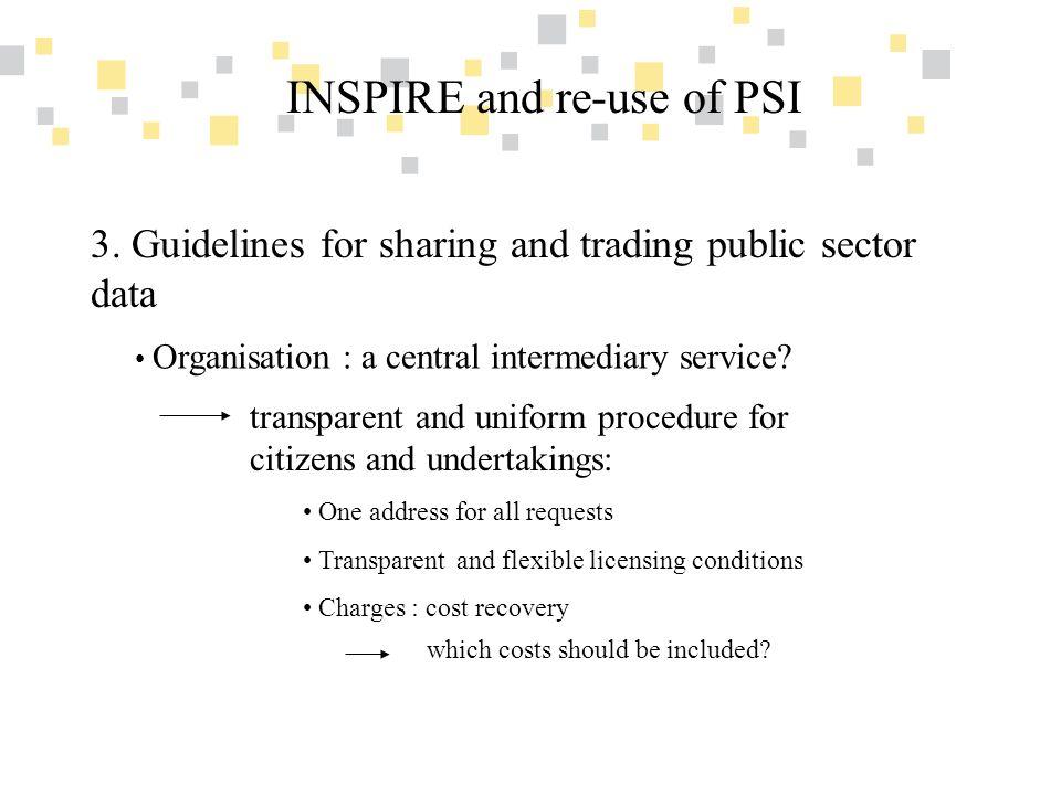 Transparante overheidsinformatie als competitief voordeel voor Vlaanderen INSPIRE and re-use of PSI 3.
