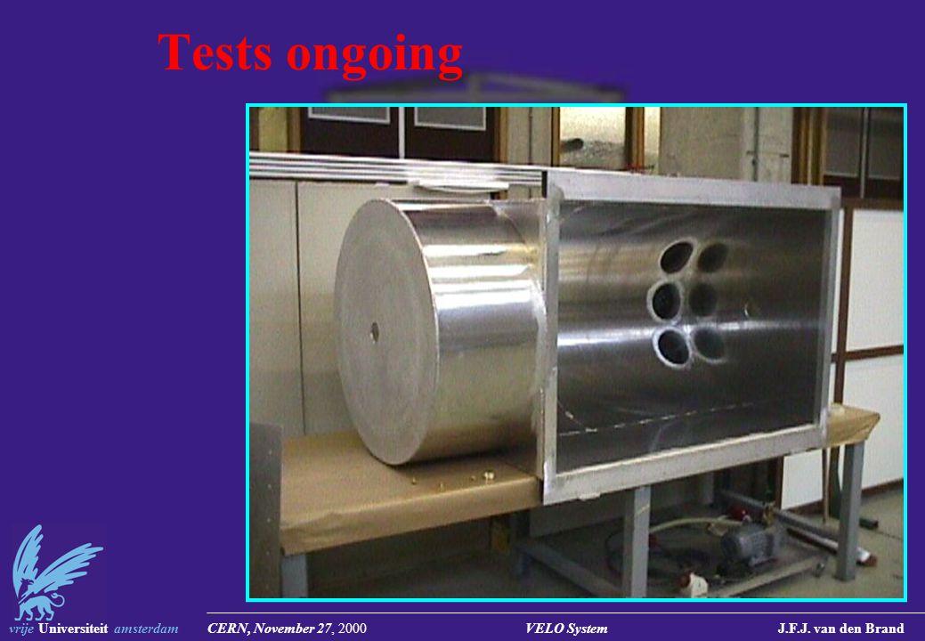 vrije Universiteit amsterdam CERN, November 27, 2000 VELO System J.F.J. van den Brand Tests ongoing