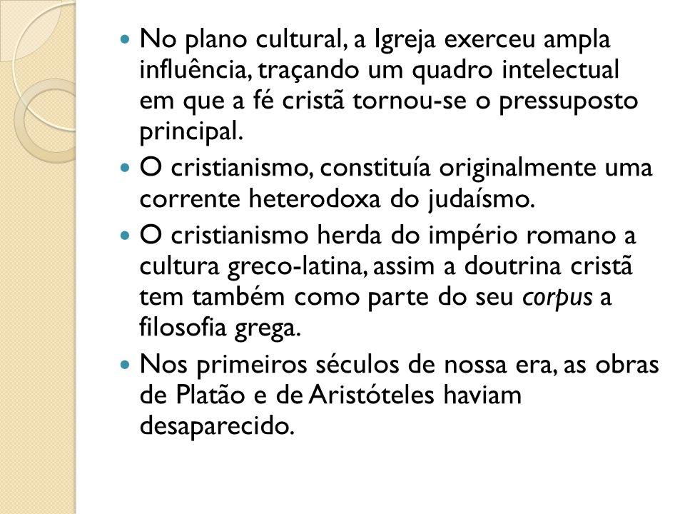 As principais concepções gregas absorvidas pelo cristianismo, nesse período, vieram de escolas filosóficas helenísticas e greco-romanas.