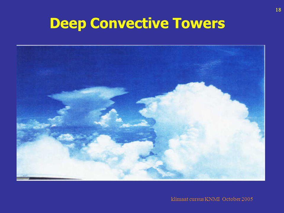 klimaat cursus KNMI October 2005 18 Deep Convective Towers